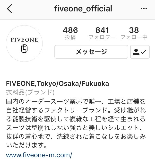 FIVE ONE Official Instagram